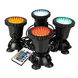 GreenSun LED Lighting Gartenteich Lampe RGB Aquarium Licht 8W Spot Lampe 36 Leds Unterwasserleuchte...
