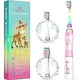 Elektrische Zahnbürste Kinder Ultraschall Batterie kinderzahnbürste mit Timer mit...