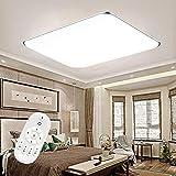 Froadp Dimmbar LED Deckenleuchte Panel Stufenlosen Dimmens mit Fernbedienung Flimmerfreie...