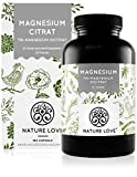 Premium Magnesiumcitrat 2250mg, davon 360mg elementares Magnesium je Tagesdosis. 180 Kapseln....
