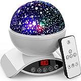 Amouhom Sternenhimmel Projektor Lampe mit Fernbedienung, LED Nachtlicht mit Wiederaufladbare...