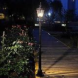 Schwarze einpolige Gartenstraßenbeleuchtung Pfostenlicht Europäische antike Gemeinschaft...