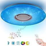 36W Sternenhimmel Deckenleuchte LED mit Fernbedienung Dimmbar Farbwechsel, Bluetooth Lautsprecher...