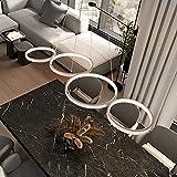 GBLY LED Pendelleuchte Modern Weiß 4 Flammig Esstischlampe 3000k Warmweiß Schlafzimmerlampe in...