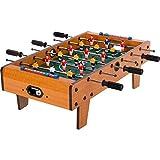 """Maxstore Mini Kicker Tischfußball """"Chelsea"""", helles Holzdekor, Maße: 70x37x25 cm, Gewicht: 4..."""