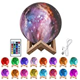 Mond Lampe 3D Nachtlicht 15cm LED Mond Lampe Fernbedienung Farbige Dekoleuchte Mondlicht...