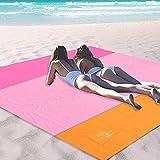 OCOOPA 200 x 200 cm XL Stranddecke, Sandfreie Picknickdecke Campingdecke Strandtuch, aus Weiches...