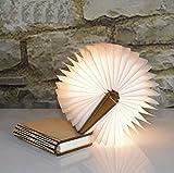 YAOJU Hölzerne faltende Buch-Lampe, Dekorative Lampe, Magnetisches LED-Licht,...