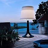 pearlstar Solar-Tischleuchte LED Solar Tischlampe Außen-Tischbeleuchtung Schreibtisch Lampe Nacht...