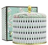 La Jolíe Muse Duftkerze Groß Sojawachs Kerze Weißer Tee Geschenkkerze in Dose 2 Dochte 80Std 400g...
