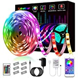 LED Strip, L8star LED Streifen Farbwechsel Led Lichterkette 5M RGB Flexible LED Bänder Strips mit...