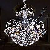 Glighone LED Kronleuchter Kristall Pendelleuchte Lüster Modern Hängeleuchte Anhänger...