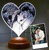 Sentidos Fotogeschenk Valentinstag Geschenk Personalisierbar mit eigenem Foto und Text in 3D Bilder...