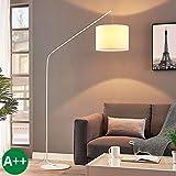 Lindby Stehlampe (Bogenleuchte) 'Viskan' (Für Kinder, Junges Wohnen) in Weiß aus Textil u.a. für...