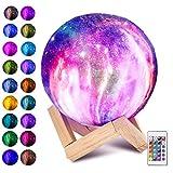 Laelr Moon Lampe, 16 Farben ED RGB Mondlicht tragbares Nachtlicht mit Touch Control USB...