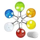 morpilot 6 Pcs Sicherheits Clip-On LED Blinklicht für Hunde, Katzen, wasserdicht Licht...