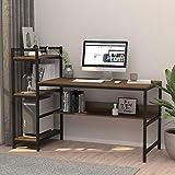 Dripex Holz Schreibtisch mit Ablage Computertisch, 120x60x111cm PC-Tisch Bürotisch Officetisch...
