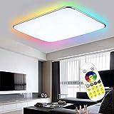 Froadp RGB LED Deckenleuchte Panel mit Fernbedienung Flimmerfreie Dimmbar Deckenlampe IP44 Blendfrei...