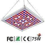 TOPLANET Pflanzenlampe 75W, Led Grow Lampe Vollspektrum mit UV IR Rot Blau Licht Pflanzenlicht Full...