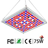 Pflanzenlampe 75W TOPLANET, Led Grow Lampe Vollspektrum mit IR Rot Blau Licht Pflanzenlicht full...