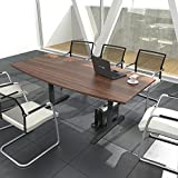 Weber Büroleben GmbH Easy Konferenztisch Bootsform 180x100 cm Nussbaum Besprechungstisch Tisch,...