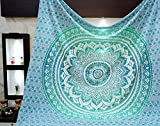 Aakriti Gallery Tapestry Queen Ombre Hippie Tapestries Mandala Bohemian Psychedelic Intricate Indian...