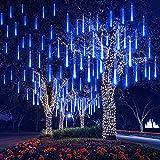EEIEER 192 mini LED Eiszapfen Lichterkette sternschnuppe Licht für Außen balkon Garten Weihnachten...
